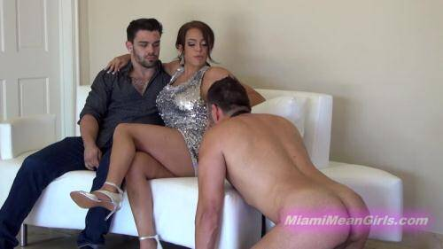 Cuckold ass furniture [FullHD, 1080p] [MiamiMeanGirls.com] - Femdom