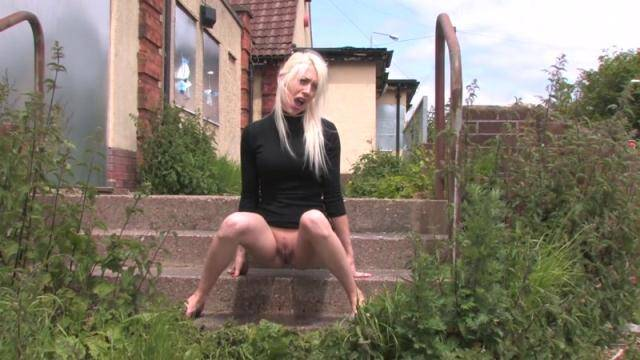 SneakyPee.com - Blonde Charlotte Piss Outdoor! [HD, 720p]