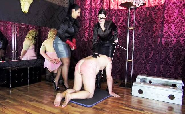 Double Caning With Ezada Sinn & Lady Victoria Valente [SD] - Germany Mistress