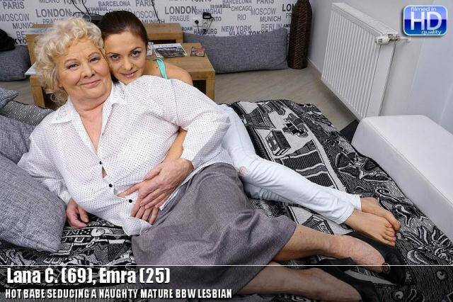 Mature.nl/old-and-young-lesbians.com - Lana C. (69), Emra (25) - Mature BBW Lesbian [SD, 540p]