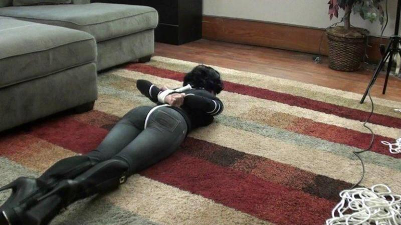 Hannah Perez - Bondage! Tied In Heels! [HD] - SandraSilvers