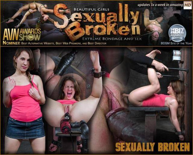SexuallyBroken.com/RealTimeBondage.com - Devilynne bound in half and tag team fucked by huge cock, finished off with fucking machine! [SD, 360p]