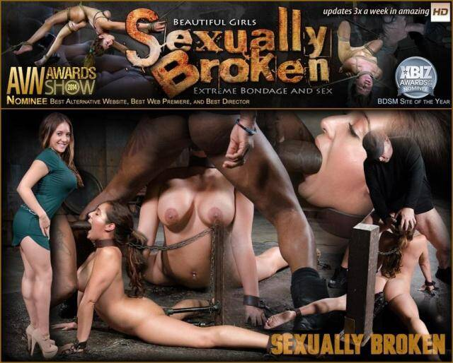 SexuallyBroken.com/RealTimeBondage.com - Lush Jean Michaels gets the Sexuallybroken treatment, bound and deepthroating on two big cocks! [SD, 360p]