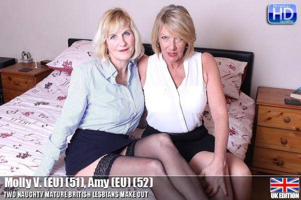 Molly V. (EU) (51), Amy (EU) (52) Hot British Lesbians Mature! (Mature.nl) [SD, 540p]