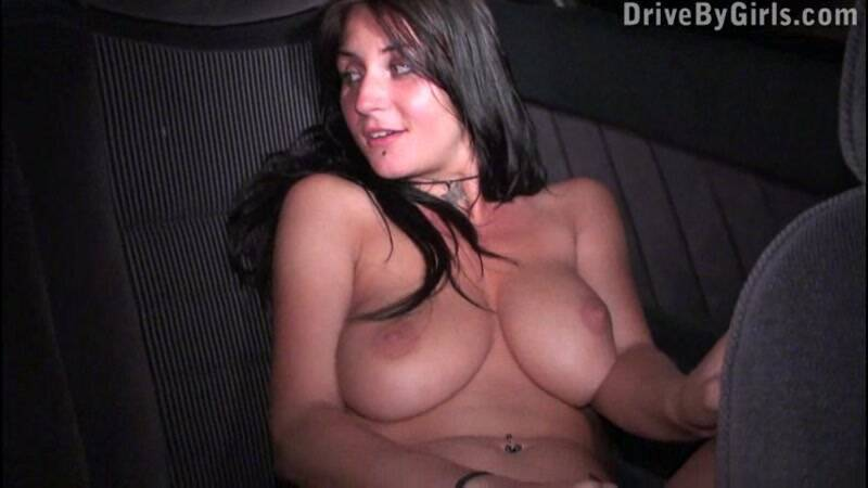 A perfect attarction big boobs and flat stomach! [SD] - DriveByGirls, Sex in Car