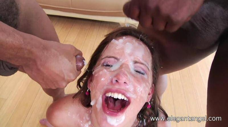 Sexy brunette Katie St Ives in Group sex - Massive Facials! [HD] - ElegantAngel