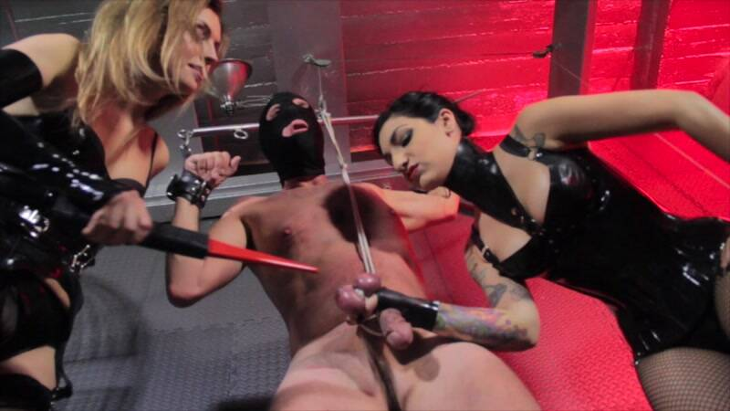 CybillTroy.com: Cybill Troy and Renee Trevi - Bruised Manhood! Torture! [SD] (397 MB)