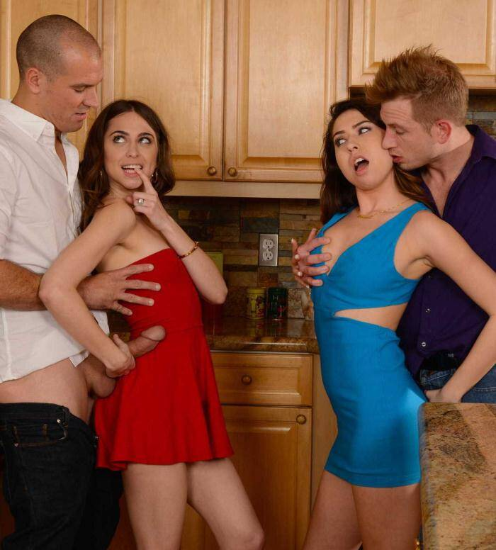 Real Stories - Melissa Moore,�Riley Reid - Dinner For Sluts  [SD 480p]