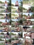 Chicas and Loca - Aina Smith [Slutty Aina Smith blows Alberto Blanco near a train track] (HD 720p)