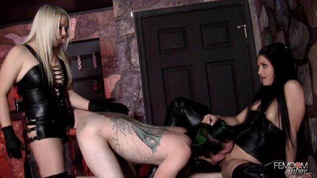 Female Domination - Jade Indica, Lexi Sindel - Strapon sex slave [HD, 720p]