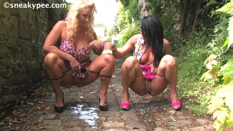 SneakyPee.com: Nikki and Jessica - Blonde and Brunette Milf Piss! [HD] (94.2 MB)