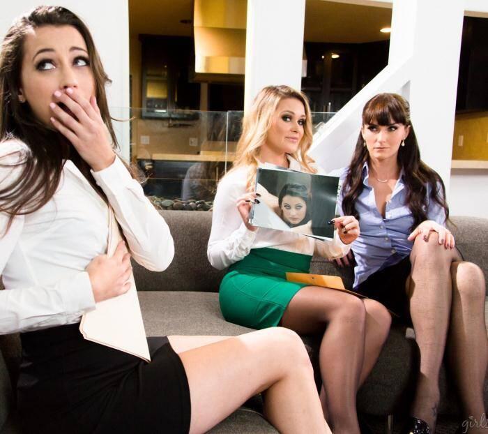 Girl Way - Abby Cross, Bianca Breeze, Georgia Jones - The Senators Speech: Part Three  [FullHD 1080p]