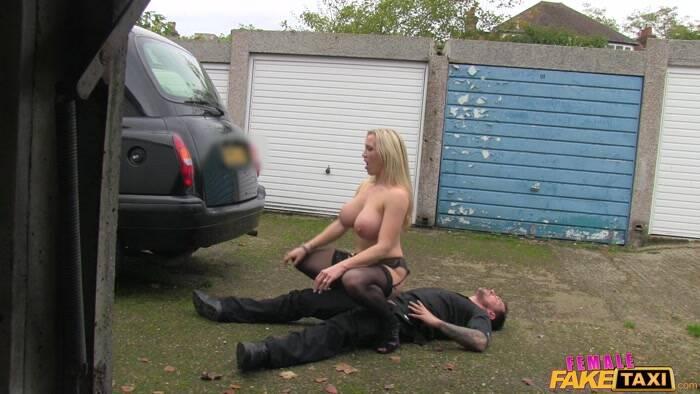 Femalefaketaxi busty driver swallows actor039s cum