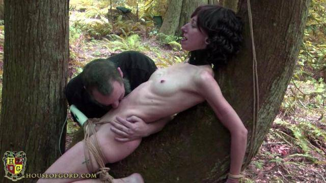 Nakedgord.com - Tied to a tree in the forest - Part 2! Orgasm! [HD, 720p]
