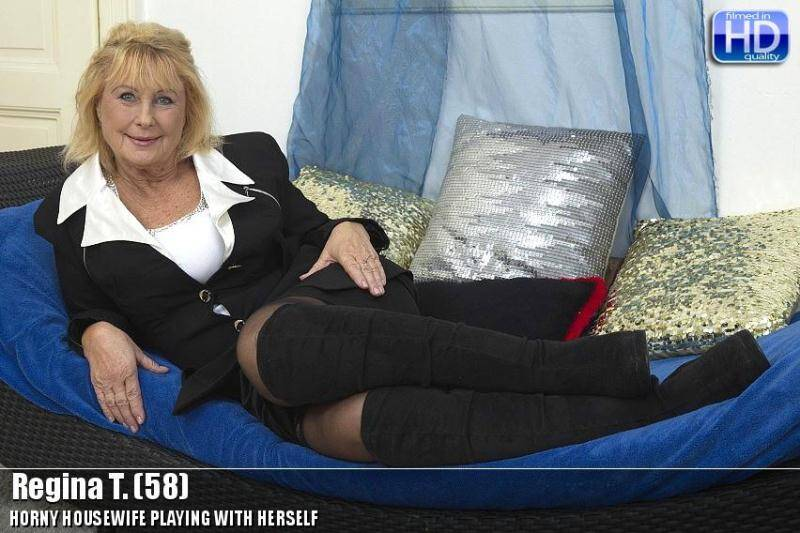 Regina T. (58) - Horny Housewife Masturbation [SD] - Mature.nl