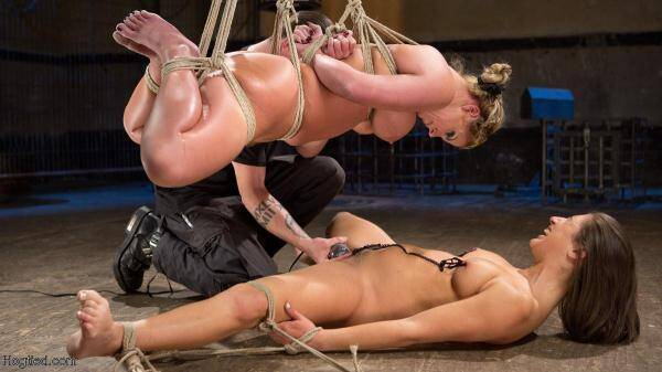 Phoenix Marie and Abella Danger Helpless in Bondage, Tormented and Made to Cum! - HogTied.com (SD, 360p) [BDSM, Bondage, Toys, Domination, Torture]