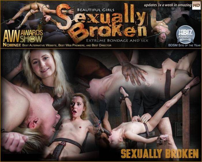 SexuallyBroken.com/RealTimeBondage.com - Pale 5 foot pixie Odette Delacroix belt bound down and roughly fucked by giant black cock! (BDSM) [SD, 360p]