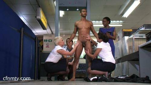 Airport 2016 Part 2 - Group Domination [SD, 540p] [cfnmtv.com] - Femdom