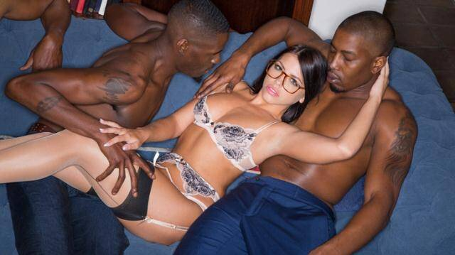 Blacked - Adriana Chechik - Brunette Babe Takes Trio of BBCs [SD 480p]