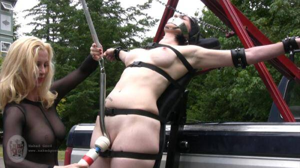 Tied to the truck - Part 2! Masturbate with Toy! (Nakedgord.com) [HD, 720p]