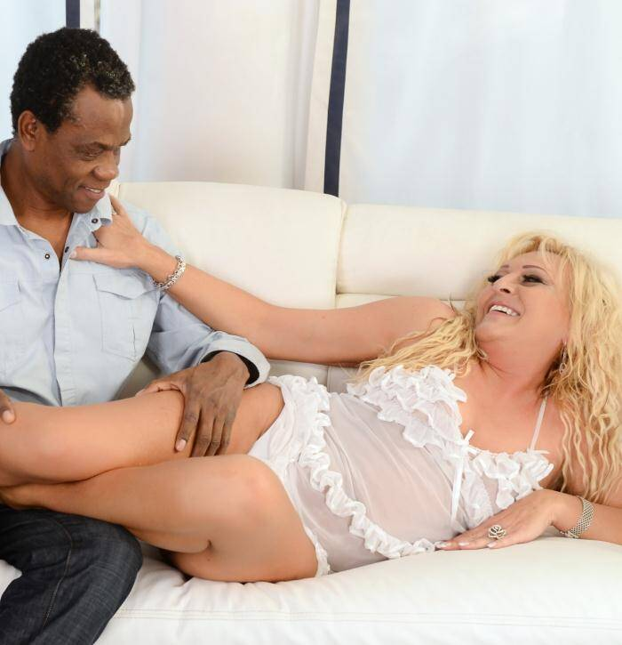 Lusty Grandmas - Magdi - Magdi Melts With Her Black Boyfriend  [FullHD 1080p]