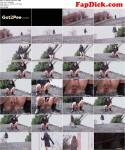 Back to black! Public Piss! [FullHD, 1080p] - G2P