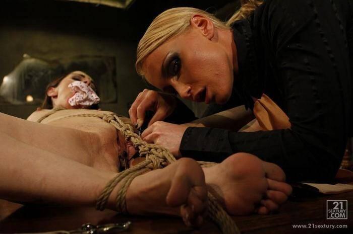 MightyMistress.com - Kathia Nobili, Jeanine Hot - Lesbi Bondage (BDSM) [HD, 720p]