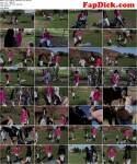 German Mistress: Vier Reitgirls zuechtigen den Sklaven [HD] (368 MB)