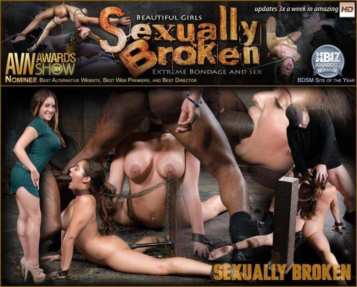 Lush Jean Michaels gets the Sexuallybroken treatment, bound and deepthroating on two big cocks! [SD, 360p] - SexuallyBroken.com/RealTimeBondage.com