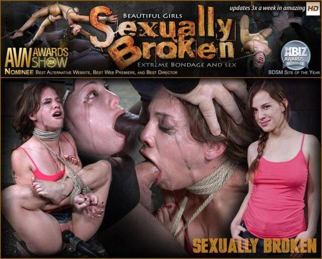 SexuallyBroken.com/RealTimeBondage.com - 5 foot high girl next door Devilynne tightly tied in strict bondage with epic drooling deepthroat! [SD, 360p]