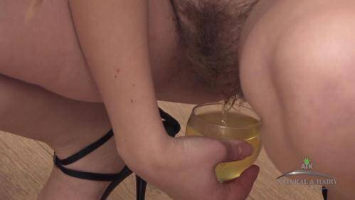 Amateur Piss in the glass [HD] - ATK Piss