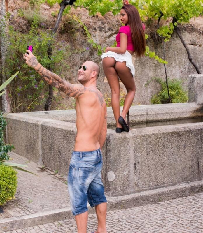 Private - Katia De Lys - Latina Katia Takes Dick in Her Throat and Ass Outdoors [2014 FullHD]
