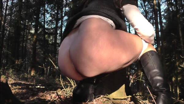 Experiment psyllium Part 3 - diarrhea in the woods! Amateur! Solo Scat! [FullHD] - Scat