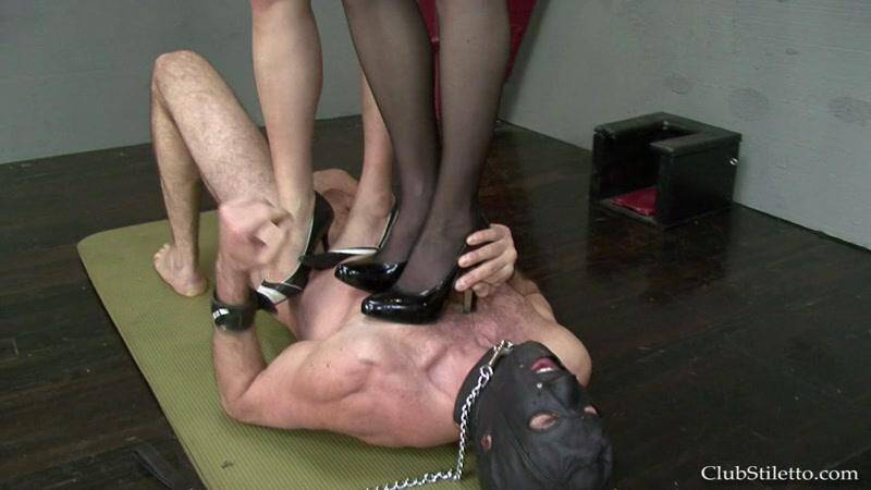 ClubStiletto.com: Mistress Bijou and Goddess Therapy - Our Trample Bitch! [HD] (89.6 MB)