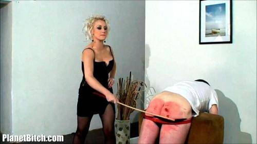 Angry Michelle Gives Naughty Boy HARD Punishment [HD, 720p] [PlanetBitch.com] - Femdom