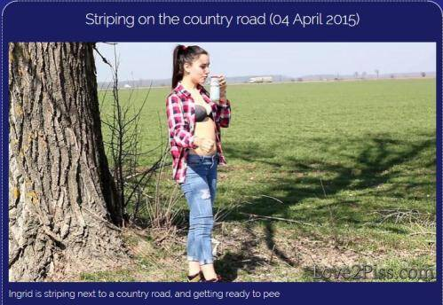 Striping on the country road [FullHD, 1080p] [Love2piss.com] - Pissing