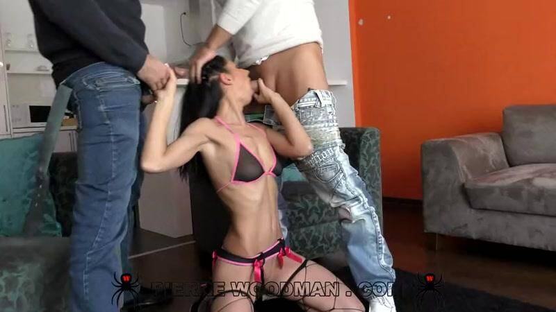 July Sun - Hard Group Anal Sex - Spanked like a bitch by 2 men - 4.02.2016 [SD] - PierreWoodman, WoodmanCastingX