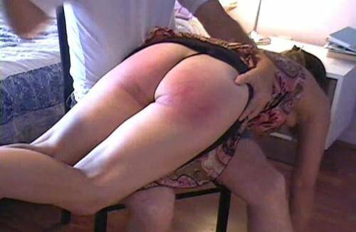BDSM [Real Spanking Video - Leah Gets Spanked To Tears] SD, 480p)