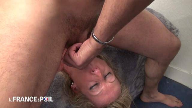 NudeInFRANCE, LaFRANCEaPoil - Busty blonde housewife gets hard analized and jizzed on her feet by her handyman [HD, 720p]