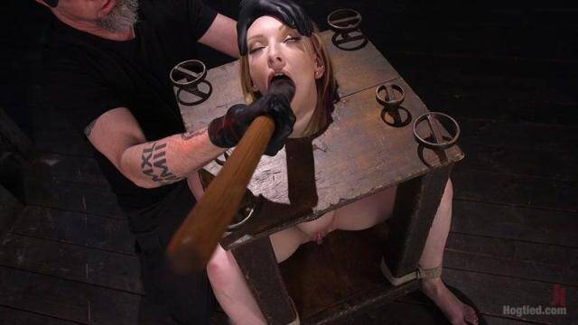 Hogtied - Brand New Red Head in Brutal Bondage, Suffering, and Made to Cum [HD, 720p]
