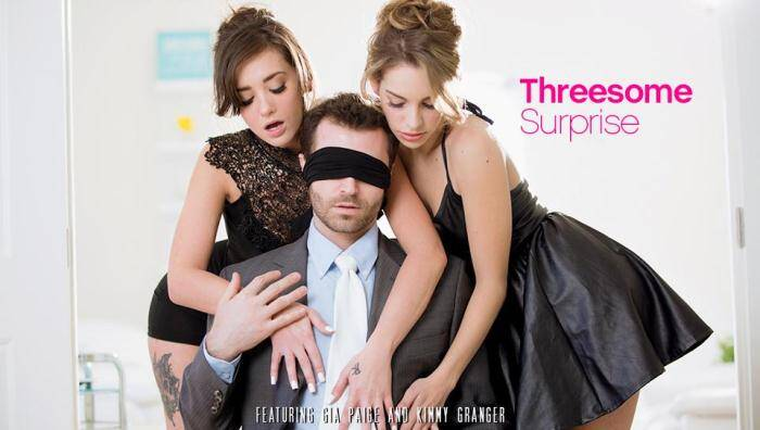 Kimmy Granger, Gia Paige - Hot Threesome Surprise [EroticaX] 400p