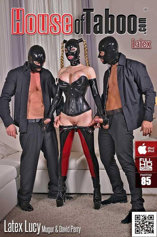 Just latex threesome clips