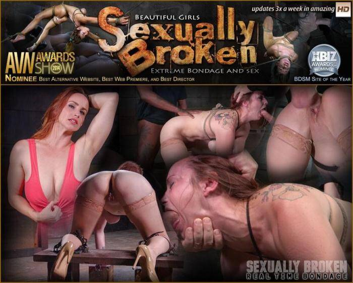 SexuallyBroken.com/RealTimeBondage.com - Bella Rossi BaRS show continues with rough doggy style fucking and drooling BBC deepthroat! (BDSM) [HD, 720p]