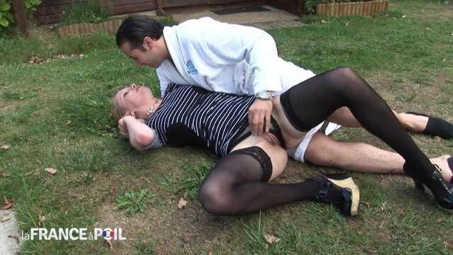 NudeInFRANCE, LaFRANCEaPoil - Blonde bitch from France takes it hard up the ass [HD, 720p]