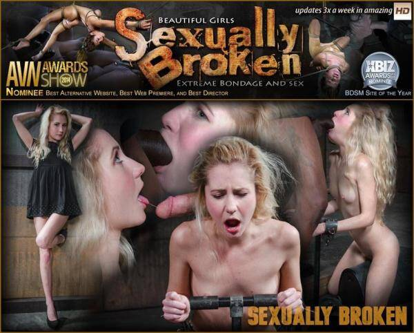 SexuallyBroken.com: All natural spinner Odette Delacroix deepthroats huge cock as she is bound into a sybian (2016/SD)