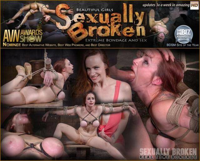 RealTimeBondage, SexuallyBroken - Busty Bella Rossi BaRS show with epic BBC deepthroat, tited tits and strict challenging bondage! [HD, 720p]