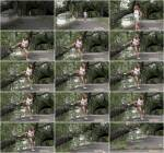 Hot Teen Girl - Splash by the river - Piss Outdoor! (FullHD 1080p)