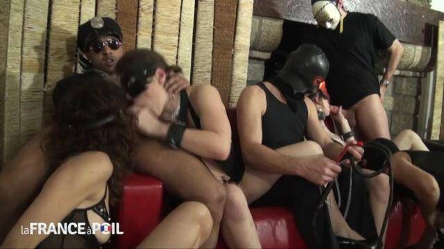 NudeInFRANCE, LaFRANCEaPoil - Orgy and cum shower for three pretty bitches in heat! [HD, 720p]