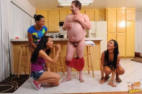 HeyLittleDick.com/PureCFNM.com - Emy Reyes, Kim Kennedy, Vicki Chase [Swimming Trunks] (SD 480p)