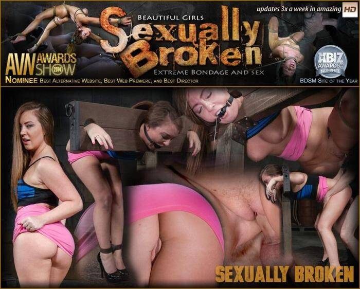 Redheaded Maddy O'Reilly bound and drooling in strict bondage as she is dicked down by BBC! [SD, 360p] - SexuallyBroken.com